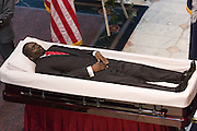 The body of slain State Senator Clementa Pinckney rests in state in the State Capitol during public visitation June 24, 2015 in Columbia, South Carolina. Pinckney is one of the nine people killed in last weeks Charleston church massacre.