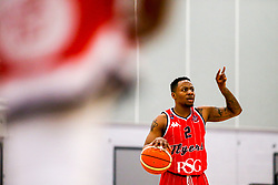Panos Mayindombe of Bristol Flyers - Photo mandatory by-line: Robbie Stephenson/JMP - 31/03/2019 - BASKETBALL - Cheshire Oaks Arena - Ellesmere Port, England - Cheshire Phoenix v Bristol Flyers - British Basketball League Championship