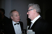 Michael Godbee and John Hoyland, The Royal Academy Schools dinner and auction. Royal Academy. London. 27 March 2007.  -DO NOT ARCHIVE-© Copyright Photograph by Dafydd Jones. 248 Clapham Rd. London SW9 0PZ. Tel 0207 820 0771. www.dafjones.com.