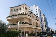 Israel, Tel Aviv, The Renovated Pagoda building, Nachmani Street, .