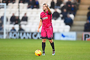 Hartlepool captain Nicky Featherstone barks out orders in  the second half during the EFL Sky Bet League 2 match between Colchester United and Hartlepool United at the Weston Homes Community Stadium, Colchester, England on 25 February 2017. Photo by Ian  Muir.Hartlepool goalkeeper Joe Fryer warms up during the EFL Sky Bet League 2 match between Colchester United and Hartlepool United at the Weston Homes Community Stadium, Colchester, England on 25 February 2017. Photo by Ian  Muir.
