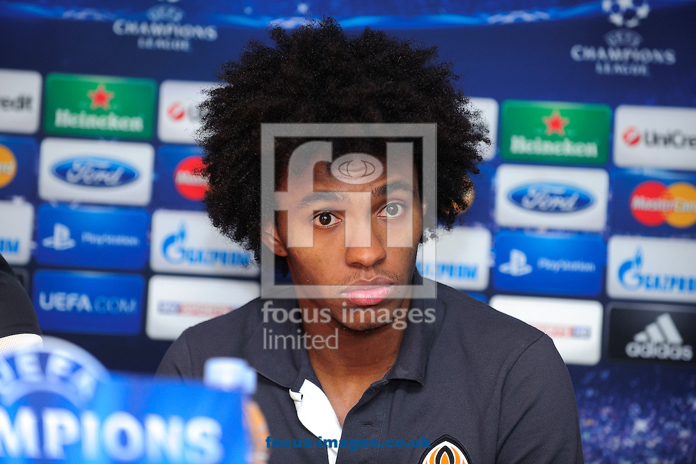 Picture by Gerald O'Rourke/Focus Images Ltd +44 7500 165179.06/11/2012.Willian of Shakhtar Donetsk picture during a press conference at Stamford Bridge, London.