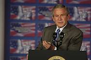 07 Jun 2006 Omaha, NE.President Bush discusses his immigration reform plan at Metropolitan Community College in the traditionally hispanic South Omaha Neighborhood Wednesday afternoon. Photo by Chris Machian