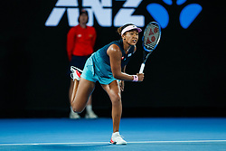 January 24, 2019 - Melbourne, VIC, U.S. - MELBOURNE, VIC - JANUARY 24: NAOMI OSAKA (JPN) during day ten match of the 2019 Australian Open on January 24, 2019 at Melbourne Park Tennis Centre Melbourne, Australia (Photo by Chaz Niell/Icon Sportswire (Credit Image: © Chaz Niell/Icon SMI via ZUMA Press)