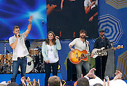 Lady Antebellum performs during the Good Morning America Concert Series at Rumsey Playfield in New York City, New York on May 23, 2014.