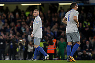 Wayne Rooney of Everton looks on.<br /> EFL Carabao Cup 4th round match, Chelsea v Everton at Stamford Bridge in London on Wednesday 25th October 2017.<br /> pic by Kieran Clarke, Andrew Orchard sports photography.