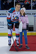 KELOWNA, CANADA - MARCH 03:  Third Star of the Game Carsen Twarynski #18 of the Kelowna Rockets at the Kelowna Rockets game on March 03, 2018 at Prospera Place in Kelowna, British Columbia, Canada.  (Photo By Cindy Rogers/Nyasa Photography,  *** Local Caption ***
