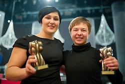 Lucija Polavder and Tanja Zakelj at Slovenian Sports personality of the year 2013 annual awards presented on the base of Slovenian sports reporters, on December 19, 2013 in Cankarjev dom, Ljubljana, Slovenia.  Photo by Vid Ponikvar / Sportida