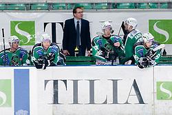 HDD Tilia Olimpija bench during ice-hockey match between HDD Tilia Olimpija and SAPA Fehervar AV19 in 27th Round of EBEL league, on December 12, 2010 at Hala Tivoli, Ljubljana, Slovenia. (Photo By Matic Klansek Velej / Sportida.com)