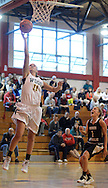 RADNOR PA -  MARCH 8:  Archbishop Wood's Aubree Brown #11 makes an easy layup in first half at Archbishop Carroll March 8, 2014 in Radnor, Pennsylvania.  Archbishop Wood defeated Berks Catholic 69-43 to advance to round two. (Photo by William Thomas Cain/Cain Images)