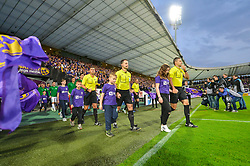 Referees and Players prior football match between NK Maribor and NK Olimpija Ljubljana in 34th Round of Prva liga Telekom Slovenije 2017/18, on May 19, 2018 in Ljudski vrt, Maribor, Slovenia. Photo by Mario Horvat / Sportida