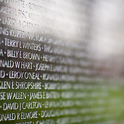 The Vietnam Veteran's Memorial in Washington, DC, on Tuesday, April 8, 2009.