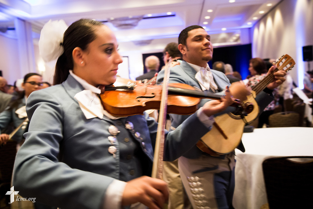"Mariachi musicians perform Tuesday, July 28, 2015, during the 5th Hispanic National Convention, ""¡Come and See!: Celebrating Our Gifts,"" at the Grand Hyatt Tampa Bay in Tampa, Fla. LCMS Communications/Pamela Nielsen"