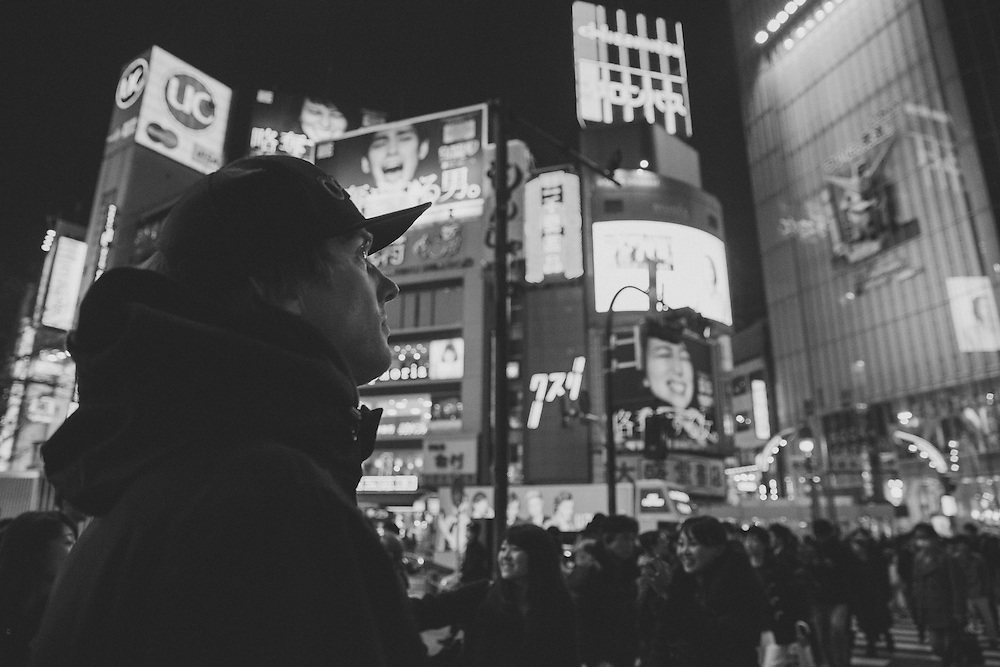Toyko, Japan, B&W, Tourist