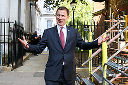 © Licensed to London News Pictures. 23/07/2019. London, UK. Foreign Secretary and Conservative Party leadership contender Jeremy Hunt  arrives in Downing Street to attend Theresa May's final Cabinet meeting. Photo credit: Dinendra Haria/LNP