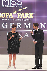 28.02.2015, Europapark Dom, Rust, GER, Miss Germany Wahl 2015, im Bild Ines Klemmer (Moderation), Alexander Mazza (moderation) // during the election to Miss Germany 2015 at the Europapark Dom in Rust, Germany on 2015/02/28. EXPA Pictures © 2015, PhotoCredit: EXPA/ Eibner-Pressefoto/ BW-Foto<br /> <br /> *****ATTENTION - OUT of GER*****