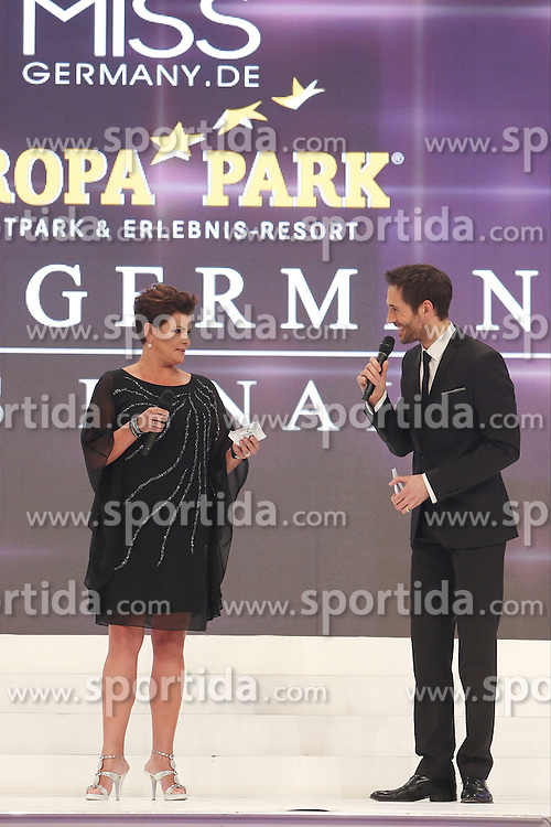 28.02.2015, Europapark Dom, Rust, GER, Miss Germany Wahl 2015, im Bild Ines Klemmer (Moderation), Alexander Mazza (moderation) // during the election to Miss Germany 2015 at the Europapark Dom in Rust, Germany on 2015/02/28. EXPA Pictures © 2015, PhotoCredit: EXPA/ Eibner-Pressefoto/ BW-Foto<br /> <br /> *****ATTENTION - OUT of GER*****