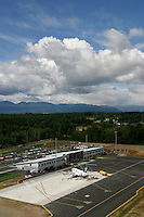 Comox Valley's YQQ airport has contributed to a greater increase in people visiting, and choosing to live in the Valley, due in large part, to Westjet's daily 737 flights in and out of the Valley.  Comox, The Comox Valley, Vancouver Island, British Columbia, Canada.