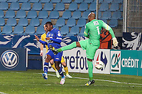 Goal Floyd AYITE / Steeve ELANA - 03.01.2014 - Bastia / Lille - Coupe de France -<br />