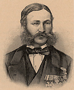 Heinrich Barth (1821-65) German explorer and geographer. Engaged by the British government to accompany James Richardson (d1851) and the German geologist Adolf Overweg (d1852) on an expedition in north and central Africa (1850-1855). Engraving.
