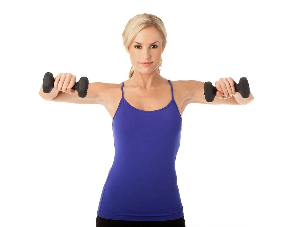 Lauren Thompson lifting weights.