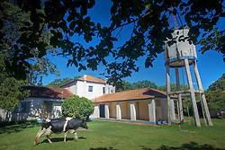Sede da fazenda Itu, que pertenceu a família Vargas, no município de Itaqui (no meio do caminho entre São Borja e Santiago). Foi aqui que Getúlio Vargas viveu boa parte do autoexílio depois da queda de 1945 e antes do retorno ao poder pelo voto direto. FOTO: Jefferson Bernardes/Preview.com