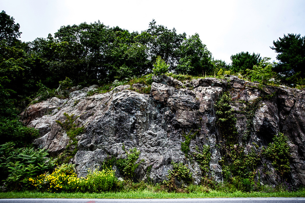 Rock formation (Catoctin formation) on the Skyline Drive in Virginia.