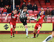 Plymouth forward Ryan Brunt takes a shot at goal during the Sky Bet League 2 match between Crawley Town and Plymouth Argyle at the Checkatrade.com Stadium, Crawley, England on 20 February 2016. Photo by David Charbit.
