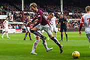 Hearts FC Defender Jordan McGhee on the attack during the Ladbrokes Scottish Premiership match between Heart of Midlothian and Ross County at Tynecastle Stadium, Gorgie, Scotland on 24 October 2015. Photo by Craig McAllister.