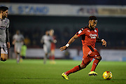 Andre Blackman attacking during the EFL Sky Bet League 2 match between Crawley Town and Grimsby Town FC at the Checkatrade.com Stadium, Crawley, England on 26 November 2016. Photo by Jarrod Moore.