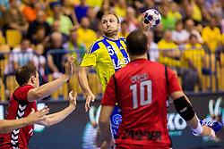 Ziga Mlakar of RK Celje Pivovarna Lasko during the handball match between RK Celje Pivovarna Lasko (SLO) and Prvo Plinarsko drustvo Zagreb (CRO) in 1st round, group B of EHF Champions League 2016/17 on September 24, 2016 in Arena Zlatorog, Celje, Slovenia. Photo by Ziga Zupan / Sportida
