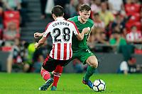 Athletic Club de Bilbao's Inigo Cordoba (l) and Panathinaikos FC's Mattias Johansson during Europa League Play-off, 2nd leg. August 24,2017. (ALTERPHOTOS/Acero)