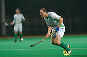 Canterbury's  James Spain against Surbiton in the NOW: Pension Men's Hockey League Premier Division, Polo Farm, Canterbury, Kent, 22nd November 2014.