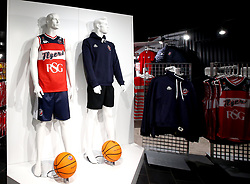 The New Bristol Flyers kit in the club shop - Mandatory by-line: Robbie Stephenson/JMP - 11/09/2017 - BASKETBALL - Ashton Gate - Bristol, England - Bristol Flyers 2017/18 Season Launch
