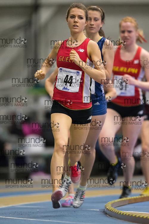 Katrina Allison of the University of Guelph  competes at the 2014 CanAm Track and Field meet in Windsor Ontario, Saturday,  January 11, 2014.<br /> Mundo Sport Images/ Geoff Robins
