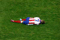 Atletico de Madrid´s Griezmann during Champions League soccer match between Atletico de Madrid and Malmo at Vicente Calderon stadium in Madrid, Spain. October 22, 2014. (ALTERPHOTOS/Victor Blanco)