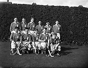 09/04/1960<br /> 04/09/1960<br /> 09 April 1960<br /> Hockey: Ireland v Wales Schoolboys Hockey International at Londonbridge Road, Sandymount, Dublin. The Irish team.