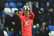 Penlty save hero Vito Mannone (1) of Reading applauds, claps the fans at full time after a 1-0 win during the EFL Sky Bet Championship match between Reading and Queens Park Rangers at the Madejski Stadium, Reading, England on 30 March 2018. Picture by Graham Hunt.