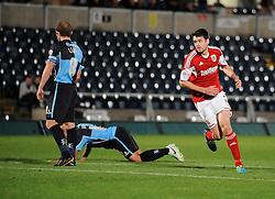Bristol City's Brendan Moloney celebrates - Photo mandatory by-line: Joe Dent/JMP - Tel: Mobile: 07966 386802 08/10/2013 - SPORT - FOOTBALL - London Road Stadium - Peterborough - Peterborough United V Brentford - Johnstone Paint Trophy