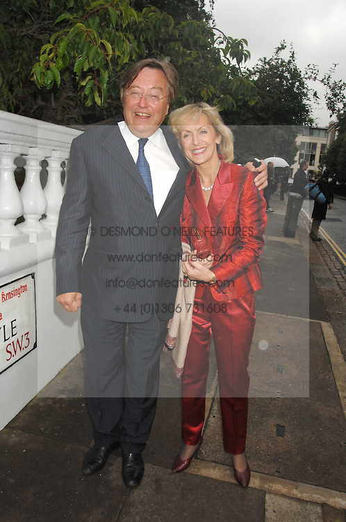DAVID MELLOR and PENNY, VISCOUNTESS COBHAM at the annual Sir David & Lady Carina Frost Summer Party in Carlyle Square, London SW3 on 5th July 2007.<br /><br />NON EXCLUSIVE - WORLD RIGHTS
