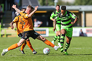 Forest Green Rovers Keanu Marsh-Brown(7) on the ball during the EFL Sky Bet League 2 match between Forest Green Rovers and Barnet at the New Lawn, Forest Green, United Kingdom on 5 August 2017. Photo by Shane Healey.