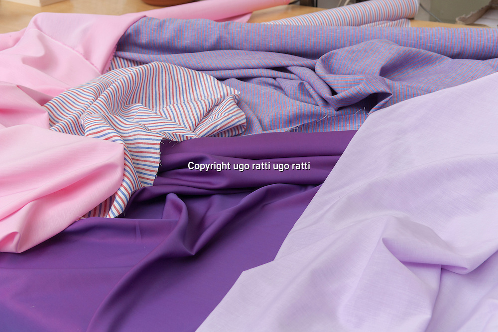 Italy, textile industry, high fashion fabrics for shirts
