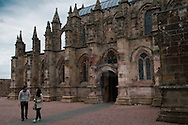 Rosslyn Chapel after extensive renovation work in Roslin near Edinburgh, Scotland.<br /> <br /> picture by Alex Hewitt<br /> alex.hewitt@gmail.com<br /> 07789 871 540