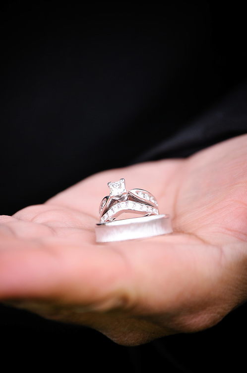 Frank holding his and Misty's wedding Rings in Green Bay, Wisconsin
