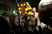 The annual Ishidori (Stone Brining Festival) is a religious festival where each town, represented by a portable shrine, brings a white stone, which represents a rice ball.