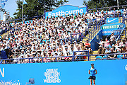 The crowd and fans during the Aegon International Final between Belinda Bencic of Switzerland and Agnieszka Radwanska at Devonshire Park, Eastbourne, United Kingdom on 27 June 2015. Photo by Phil Duncan.