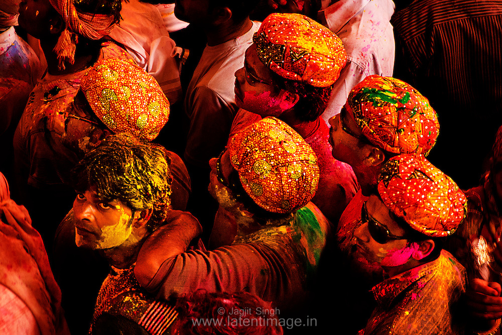 Attractive and colorful caps. Braj ki Holi