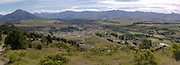 Panoramic view from atop Mt. Irons, above Wanaka; Albert Town below and Lake Hawea in the distance.