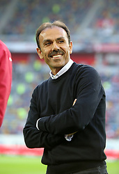 12.08.2016, Esprit Arena, Duesseldorf, GER, 2. FBL, Fortuna Duesseldorf vs VfB Stuttgart, 2. Runde, im Bild Cheftrainer Jos Luhukay (Stuttgart) lacht // during the 2nd German Bundesliga 2nd round match between Fortuna Duesseldorf and VfB Stuttgart Esprit Arena in Duesseldorf, Germany on 2016/08/12. EXPA Pictures © 2016, PhotoCredit: EXPA/ Eibner-Pressefoto/ Hommes<br /> <br /> *****ATTENTION - OUT of GER*****