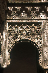Decorated archway in the Alcazar; Seville,